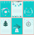 Invitation Christmas cards with place for text vector image vector image