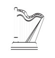 isolated harp icon musical instrument vector image