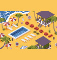 isometric scene about cancelation vacation vector image vector image