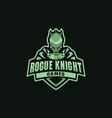 knight mascot for sportssportsclubteam vector image vector image