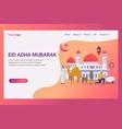 landing page eid adha mubarak design concept vector image vector image