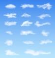Landscape atmosphere fluffy white clouds blue sky vector image vector image