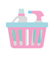 laundry basket with detergent bottle