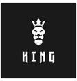 lion king logo with crown logo design vector image vector image