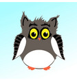 male fluffy owl vector image
