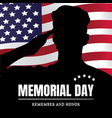 memorial day usa remember and honor vector image vector image