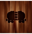 Oil tank iconWooden background vector image