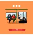 Passengers public transport concept banner vector image