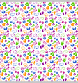Pattern with babies faces and toys vector image vector image