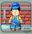 person profession plumber vector image vector image