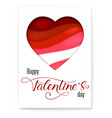 red heart from paper with cut out layers simple vector image vector image