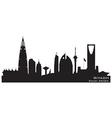 Riyadh Saudi Arabia skyline Detailed silhouette vector image vector image