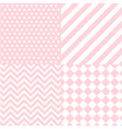 seamless baby girl pattern vector image vector image