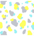 seamless pattern of yellow gray and mint spots vector image vector image