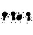 silhouette graphic of boy vector image vector image