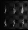 smoke forms set smoke isolated on transparent vector image