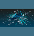 sneaker and dynamic composition vector image vector image