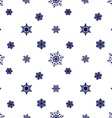 snowflake dark blue white background vector image vector image