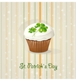 St Patricks Day background with cake vector image vector image