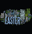 the days of easter text background word cloud
