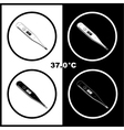 thermometers icons vector image vector image