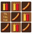 Tic-Tac-Toe of Sausage and Ketchup and Mustard vector image