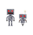 two vintage retro style robot characters vector image vector image