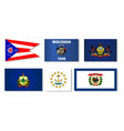 united states state flag collection vector image vector image