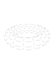 Wireframe Polygonal 3D Torus vector image