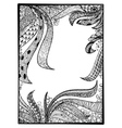 zentangle black frame vector image