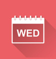 wednesday calendar page pictogram icon simple vector image