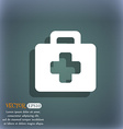 first aid kit icon symbol on the blue-green vector image