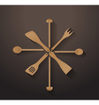 A collection of wooden kitchen utensils vector image vector image