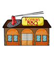 A korean bbq shop vector image vector image