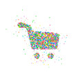 abstract shopping basket vector image vector image