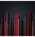 Abstract vertical infographics gray black and red vector image vector image