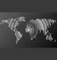 abstract world map of radial lines vector image