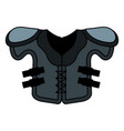 american football jacket icon vector image vector image