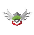 army logo skull soldiers badge military emblem vector image vector image