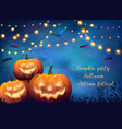 autumn halloween party poster vector image vector image