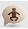 Baby sign Brown gradient icon on vector image vector image