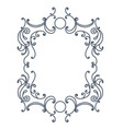 baroque inspired ornate frame vector image vector image