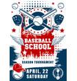 baseball sport school team tournament vector image vector image