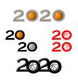 basketball symbol new 2020 year vector image vector image