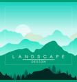 Beautiful peaceful mountains and hills landscape vector image