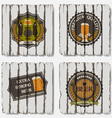 Beer badges and labels vector image vector image