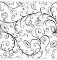 bindweed seamless flowers pattern vector image
