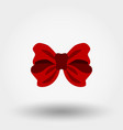 bow red icon flat design vector image vector image
