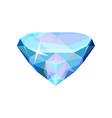 brilliant precious stone transparent crystal gem vector image