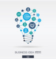 business integrated thin line icons digital vector image